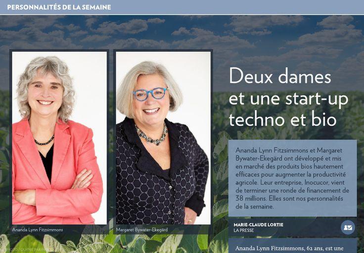 Deux dames etune start-up techno et bio - La Presse+