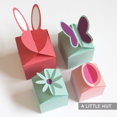 Easter boxes. flat back decoration boxes