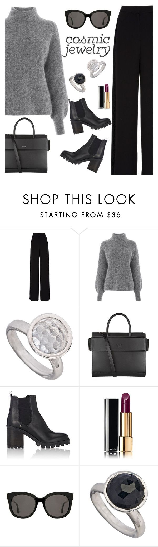 """""""Cosmic Jewelry"""" by rasa-j ❤ liked on Polyvore featuring Rochas, Warehouse, Givenchy, Barneys New York, Chanel, Gentle Monster, womensFashion and cosmicjewelry"""