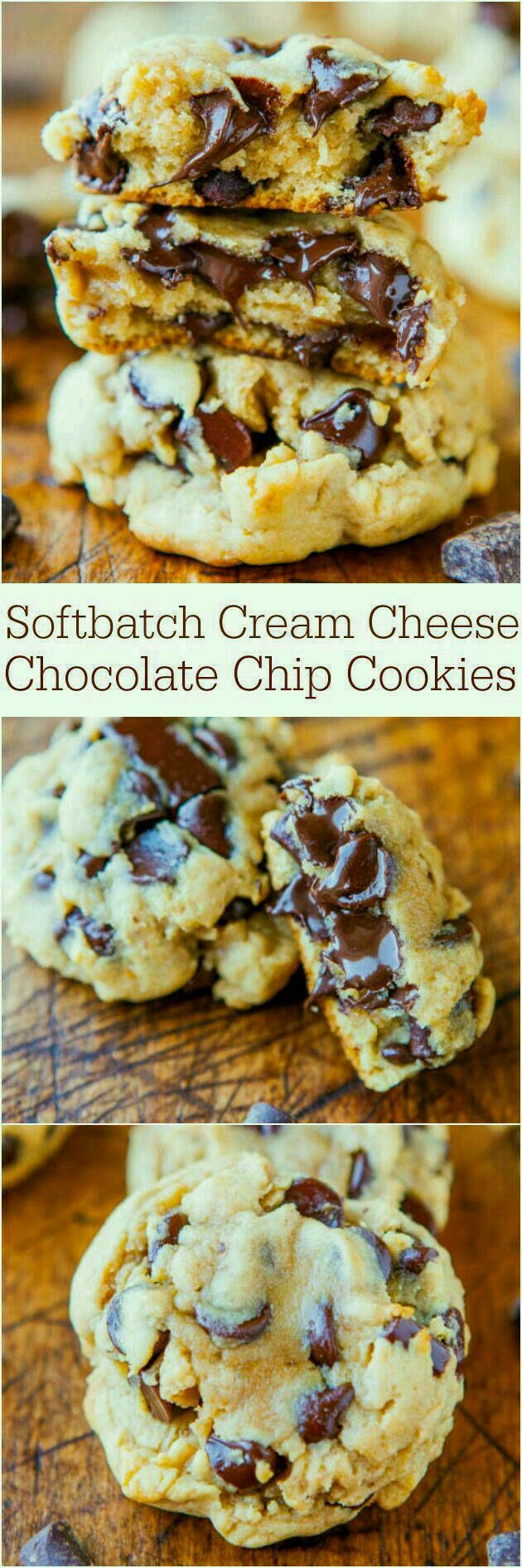 Soft Cream Cheese Chocolate Chip Cookies