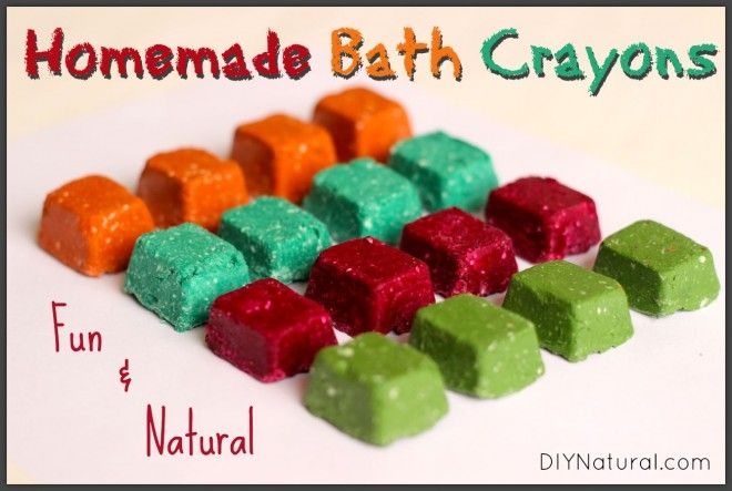 What do you need for a fun and natural bath? Homemade bath crayons! After all, what's more fun for children than drawing on things they're not normally supposed to draw on? They'll love you for this!