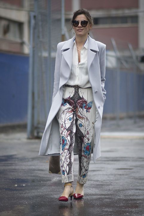 What to wear to work tomorrow: Floral pants