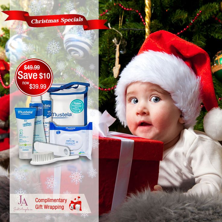 Save $10 on Mustela Newborn gift set & receive free gift wrapping till December 2nd 2015. #Baby #Giftset #Christmas