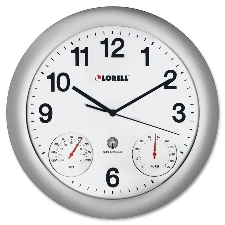 "12"" Temperature/Humidity Wall Clock"