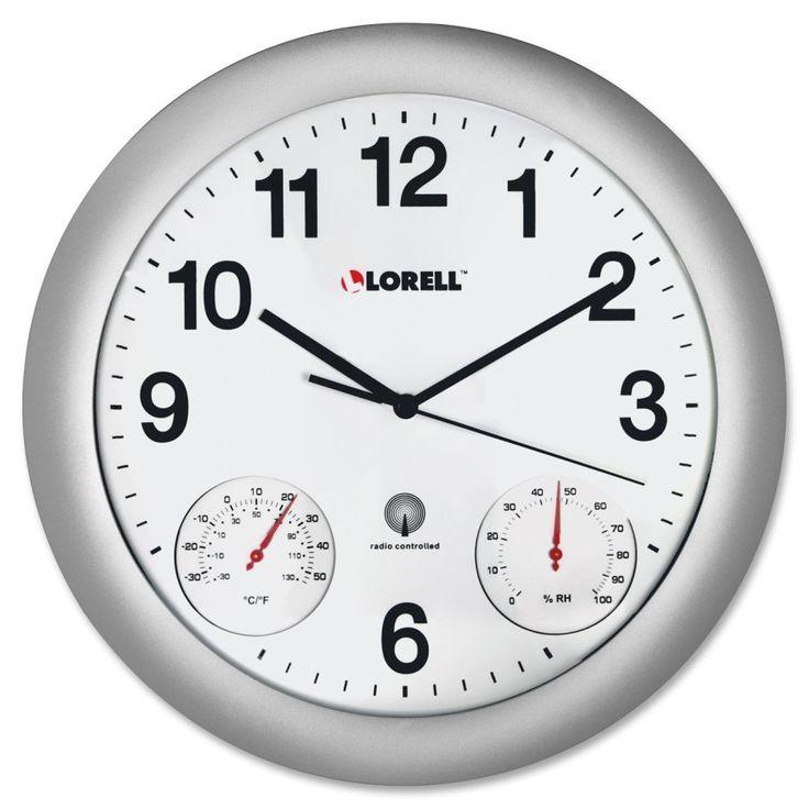 "12"" Temperature/Humidity Wall Clock"