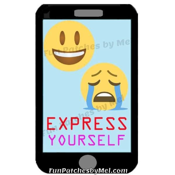 """Emoji – Express Yourself"" Fun Patch – Fun Patches by Mel"