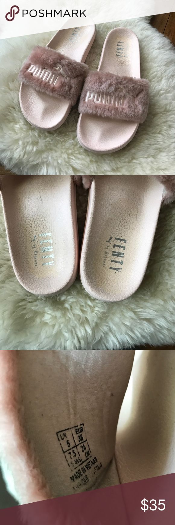 PINK PUMA RIHANNA PINK SLIDES Used. Open to offers. I do not have the box.💕💕💕 Rihanna Shoes