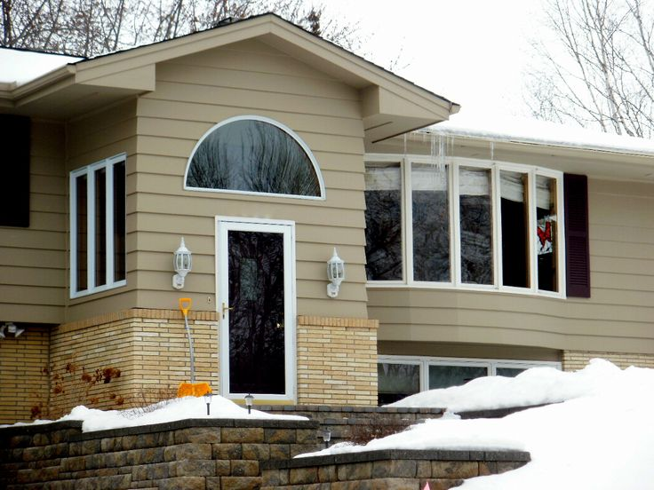17 best images about remodel split level on pinterest for Bay window remodel