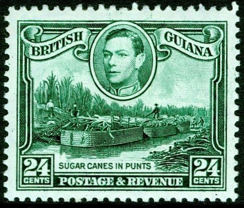 England Postage Stamps | Commonwealth British Guiana Stamp Scans