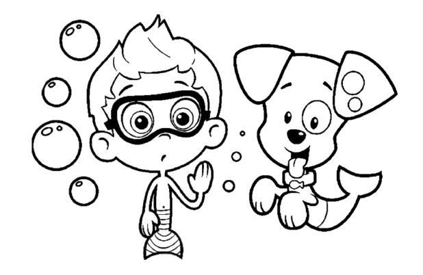 Bubble Guppies Coloring Page Full Nick Jr Coloring Pages Bubble Guppies Coloring Pages Puppy Coloring Pages