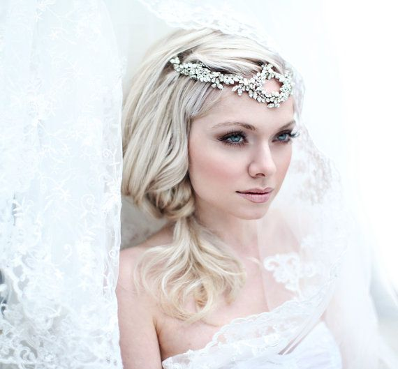 My Dazzling Kate headband  Bohemian halo with by SoBridelicious, $160.00