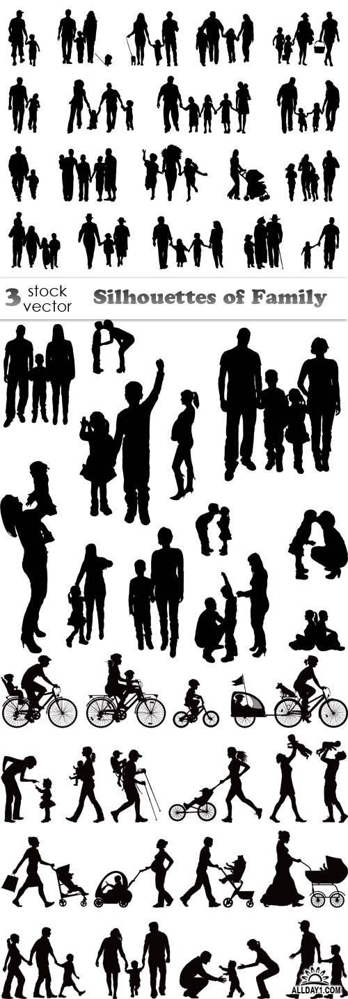 Vectors – Silhouettes of Family