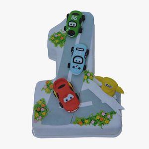 1 yaş arabalar doğum günü pastası, 1 yas  butik pasta, ankara butik pasta, 1 yaş doğum günü pastası, Morde 1 yaş arabalar pastası