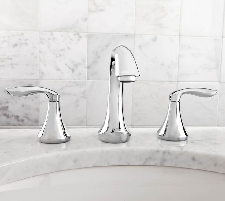 Moen T6420 Eva Two Handle Widespread Bathroom Faucet