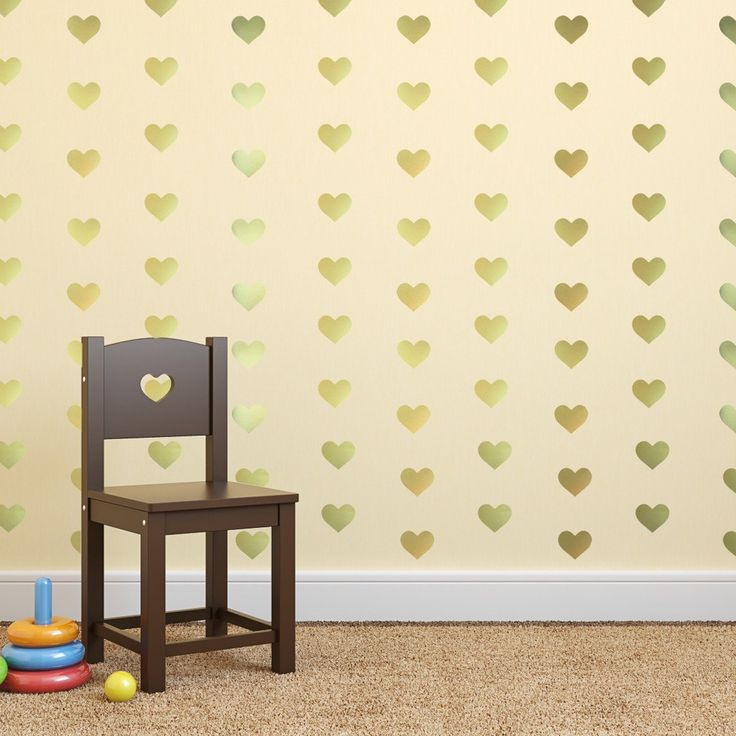 16 best gold heart wall decals images on pinterest gold for Cute gold heart wall decals
