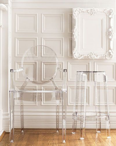 Transparent furniture is perfection, when wanting to lighten your room!