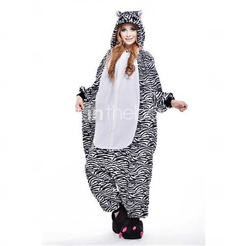 Kigurumi Pijamas New Cosplay® / Zebra Malha Collant/Pijama Macacão Festival/Celebração Pijamas Animal Preto Miscelânea Lã Polar Kigurumi de 1410815 2016 por R$91,23