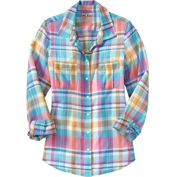 Old navy women 39 s plaid gauze shirts just my style for Womens navy plaid shirt