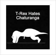 trex hates yoga