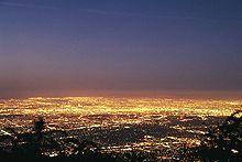 Los Angeles Basin at dawn.