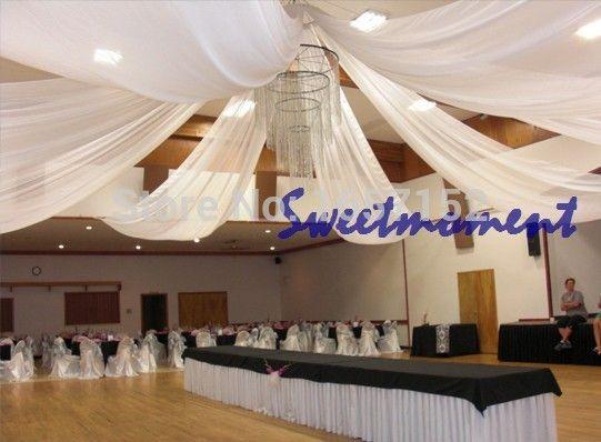 140.00  Luxury Wedding roof Drape Canopy Drapery for decoration wedding fabric 8m length  x 0.7m wide 10pcs/lot