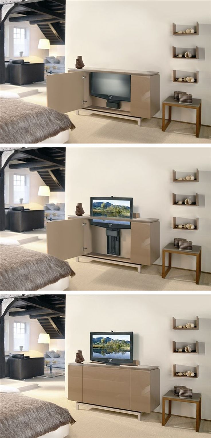 the 25 best tv lift mechanism ideas on pinterest motorized tv lift pop up tv cabinet and. Black Bedroom Furniture Sets. Home Design Ideas