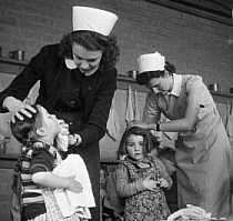 The dreaded school (Nit) head lice nurse 1960's Britain
