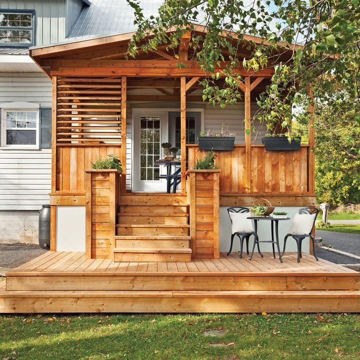 Oltre 25 fantastiche idee su terrasse couverte su for Proiettato in veranda con camino