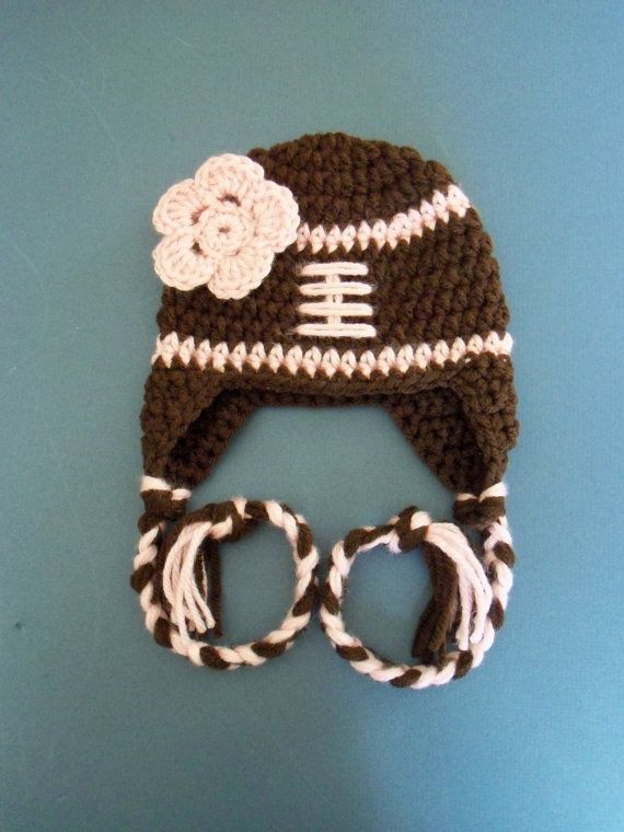 Crochet Football Hat for Baby Girl, Newborn Football Hat, Baby Girl Football Hat - Made to Order on Etsy, $15.50
