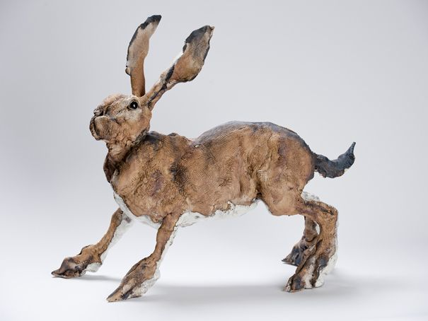 mad march hare - exquisite sculpture by Elaine Peto. Showing at the fabulous Forge Gallery in Worthing, West Sussex, UK. http://www.theforgeworthing.co.uk