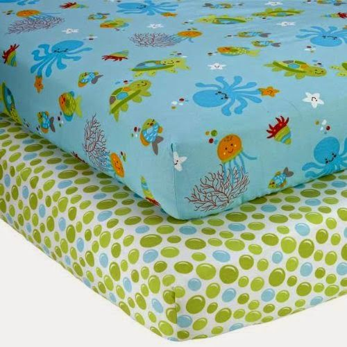Ocean crib sheets - Baby Room Decorating - Under the Sea Baby Nursery