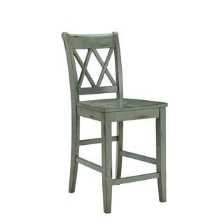 Shop For Signature Design By Ashley Mestler 24 Inch Antique Blue Bar Stool Set