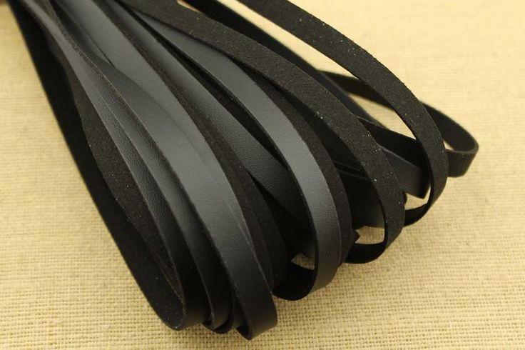 CYZ-P137 10*1.5 mm black faux suede cord,black flat leather cord for jewelry making,bracelet suede leather,good quality suede cord, 10 meter by DIYArtMall on Etsy