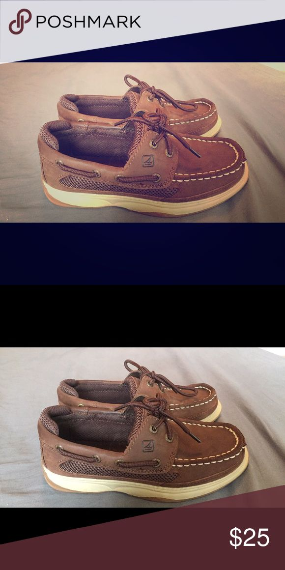 Boys Sperry Boat Shoe Brown Leather Boat Shoe. Very Gently Used/Like New. Sperry Shoes Dress Shoes