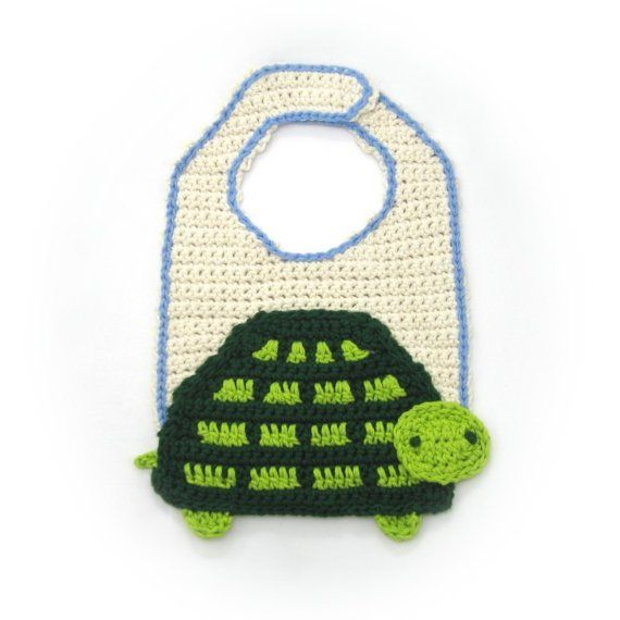 Crochet Turtle Bib Pattern PDF by NeedleNoodles on Etsy