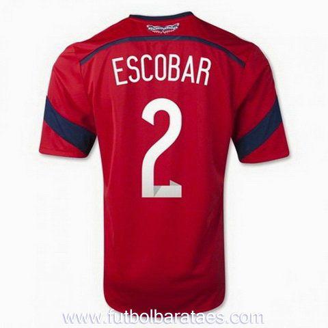 Nueva camiseta de Escobar 2nd Colombia 2014-2016