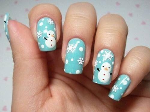 Snöflingor och snögubbar