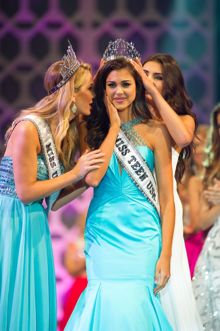 Katherine Haik, Miss Louisiana Teen USA 2015, is announced as Miss Teen USA 2015. She celebrates on stage after the…