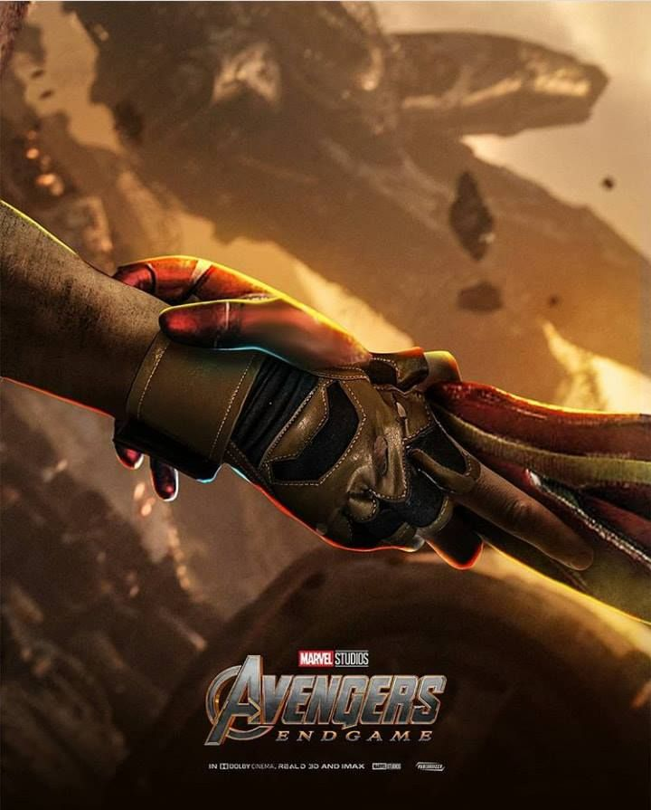 Avengers Endgame Fan Poster Of Iron Man And Cap Marvel Marvel