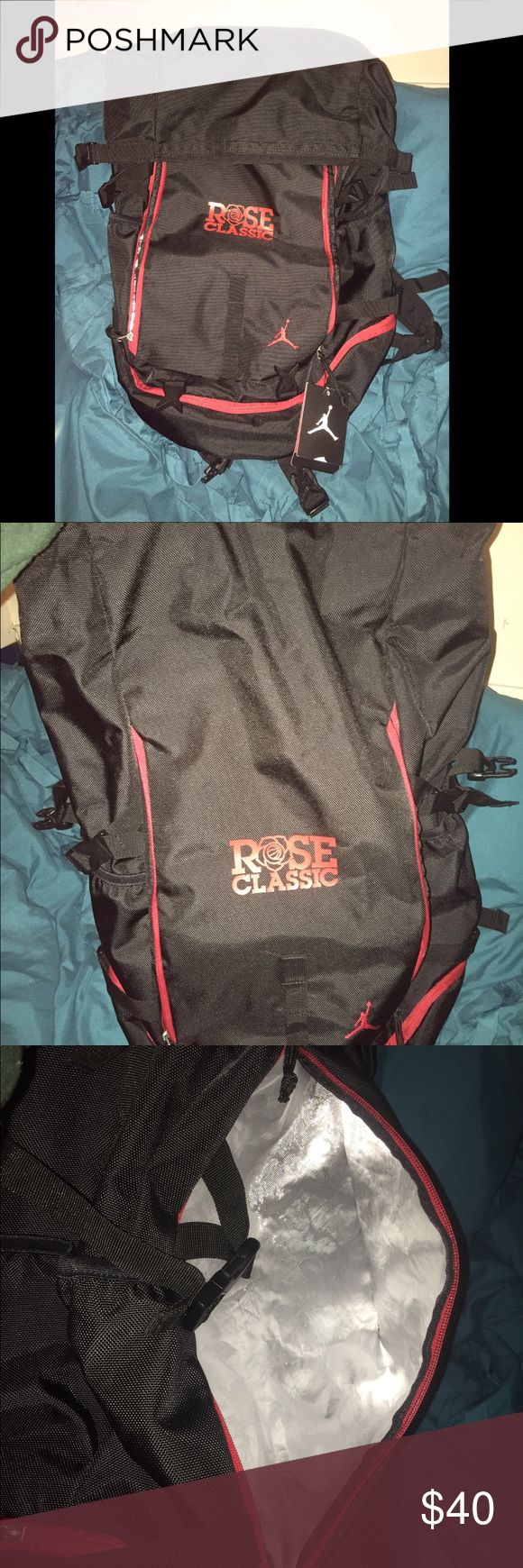 """JORDAN """"Rose Classic"""" Back Pack NWT JORDAN """"Rose Classic"""" Book Bag.. with insulated compartment to keep drinks cold.. opens and expands for a lot of room!! NWT Jordan Bags Backpacks"""