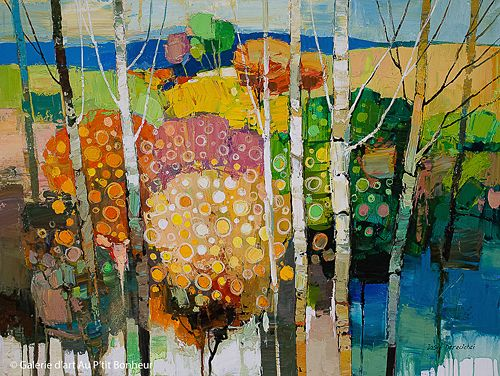 Iosif Derecichei, 'Peach Tree In Blossom', 30'' x 40''   Galerie d'art - Au P'tit Bonheur - Art Gallery