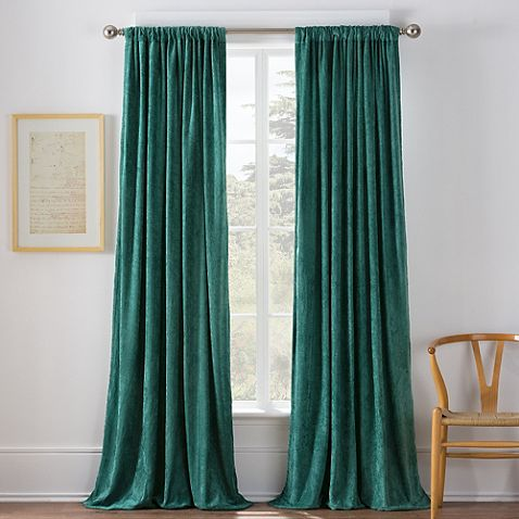 Beautiful Teal Curtains   Warren Window Curtain Panel