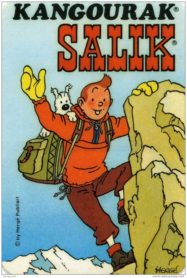 Tintin Autocollant Pub pour Kangourak Salik (Années 1970). Hergé Publiart
