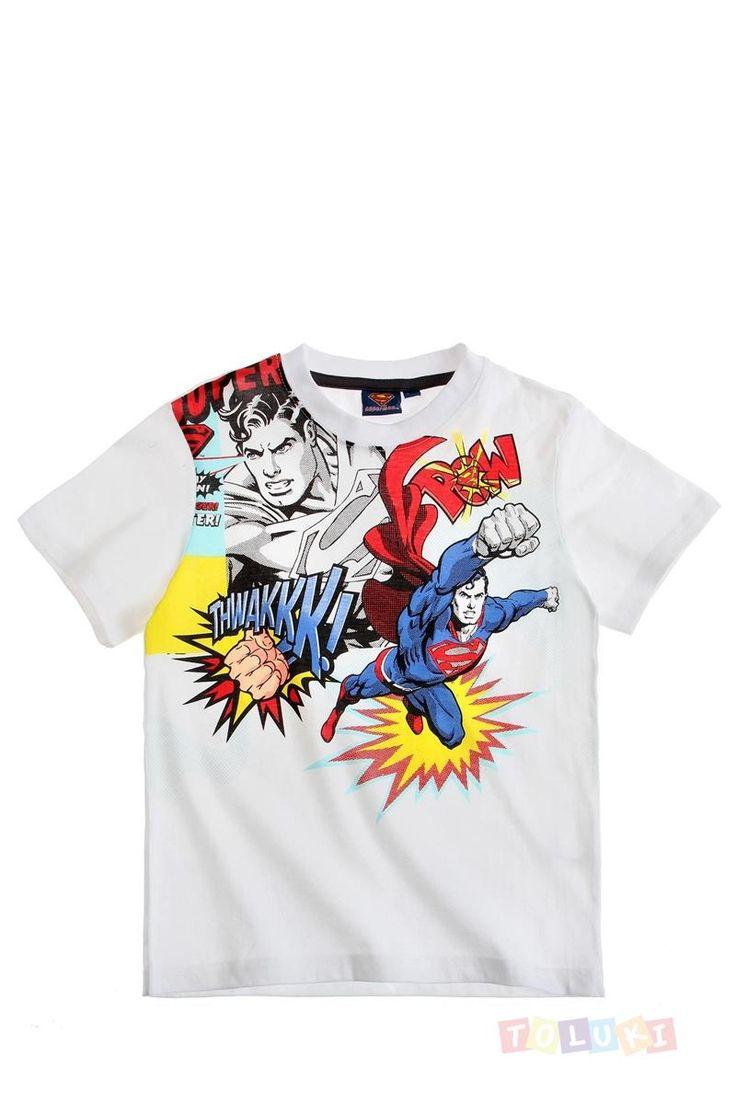 T-shirt Superman blanc https://www.toluki.com/prod.php?id=1100 #enfant #Toluki #Superman