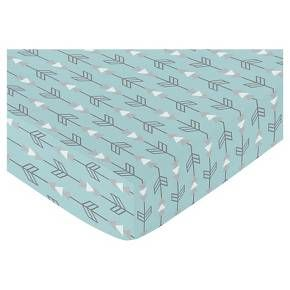Sweet Jojo Designs Earth & Sky Fitted Crib Sheet - Arrow Print : Target