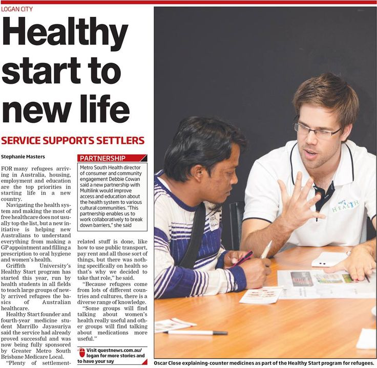 Great new initiative to help new refugees learn the basics of Australian healthcare.