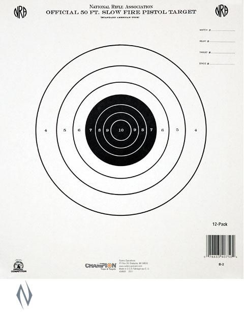 $14 30 CHAMPION TARGET NRA 50FT SLOW FIRE 12 PACK - SKU: CH40750
