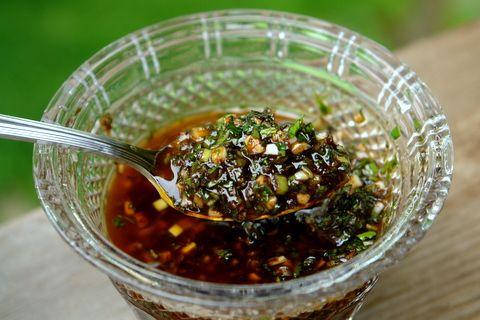 Balsamic chimichurri sauce