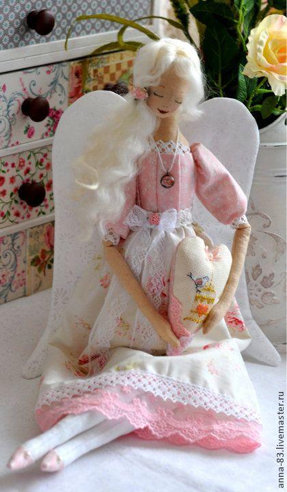 """Коллекционные куклы ручной работы. Ярмарка Мастеров - ручная работа Ангел """"Хранит любовь"""". Handmade."""
