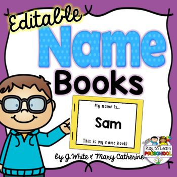 Create+customized+EDITABLE+NAME+BOOKS+for+your+students+to+use+as+a+resource+to+LEARN+THEIR+NAMES!Enter+your+children's+names+in+the+form,+and+the+books+will+be+automatically+created+with+1+upper+and+1+lower+case+letter+on+each+page+PLUS+an+illustration+that+starts+with+that+sound!
